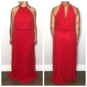 Xscape Halter Red Long Dress